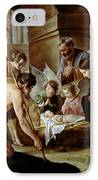 The Adoration Of The Shepherds IPhone Case by Louis Le Nain