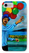 The Balloon Vendor IPhone Case by Cyril Maza