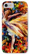 The Beauty Of Dance IPhone Case by Leonid Afremov