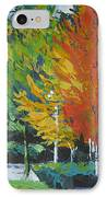The Big Red Tree IPhone Case by Lee Ann Shepard