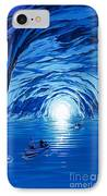 The Blue Grotto In Capri By Mcbride Angus  IPhone Case by Angus McBride