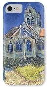 The Church At Auvers Sur Oise IPhone Case by Vincent Van Gogh