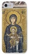 The Comnenus Mosaics In Hagia Sophia IPhone Case