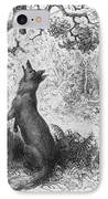 The Crow And The Fox IPhone Case by Gustave Dore