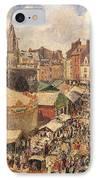 The Fair In Dieppe IPhone Case by Camille Pissarro
