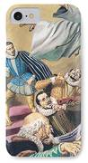 The Flight Of Father Dominic IPhone Case by English School