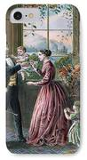 The Four Seasons Of Life  Middle Age IPhone Case by Currier and Ives