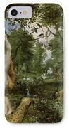 The Garden Of Eden With The Fall Of Man IPhone Case