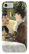 The Garden Of Pere Lathuille IPhone Case by Edouard Manet