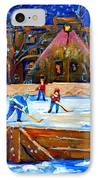 The Hockey Rink IPhone Case