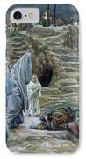 The Holy Women Stand Far Off Beholding What Is Done IPhone Case by James Jacques Joseph Tissot