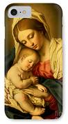The Madonna And Child IPhone Case by Il Sassoferrato