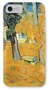The Park At Saint Pauls Hospital Saint Remy IPhone Case by Vincent van Gogh