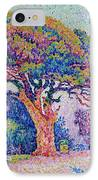 The Pine Tree At Saint Tropez IPhone Case by Paul Signac