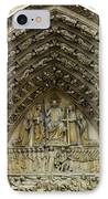 The Portal Of The Last Judgement Of Notre Dame De Paris IPhone Case by Fabrizio Troiani