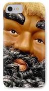 The Real Black Santa IPhone Case by Christine Till