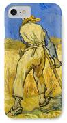 The Reaper IPhone Case by Vincent van Gogh