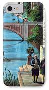 The Reception Of Benjamin Franklin In France IPhone Case