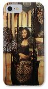 The Secrets Of Mona Lisa IPhone Case by Michael Kulick