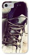 The Shoes He Left Behind IPhone Case by Dana Coplin