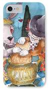 The Tea Party IPhone Case by Lucia Stewart