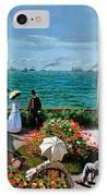 The Terrace At Sainte Adresse IPhone Case by Claude Monet