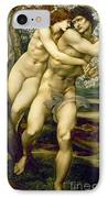 The Tree Of Forgiveness IPhone Case by Sir Edward Burne-Jones