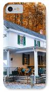 The Valley Green Inn In Autumn IPhone Case by Bill Cannon
