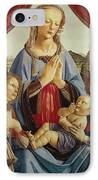 The Virgin And Child With Two Angels IPhone Case by Andrea del Verrocchio