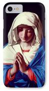 The Virgin In Prayer IPhone Case by Il Sassoferrato