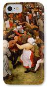 The Wedding Dance IPhone Case by Pieter the Elder Bruegel