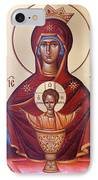 Theotokos The Inexhaustable Cup IPhone Case by Julia Bridget Hayes