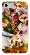Three  Friends IPhone Case by Leonid Afremov