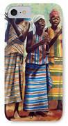 Three Joyful Girls IPhone Case