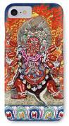 Tibetan Thangka  - Wrathful Deity Hayagriva IPhone Case