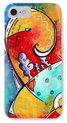 Tickle My Fancy Original Whimsical Painting IPhone Case