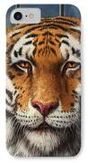 Tiger In Trouble IPhone Case by James W Johnson