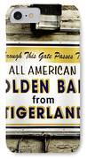 Tigerland Band IPhone Case by Scott Pellegrin