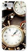 Time IPhone Case by Gabriela Insuratelu