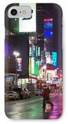 Times Square In The Rain 2 IPhone Case