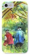 Together Old  In Italy 07 IPhone Case by Miki De Goodaboom