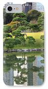 Tokyo Trees Reflection IPhone Case by Carol Groenen