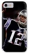 Tom Brady - New England Patriots IPhone Case by Paul Ward