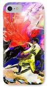 Toroscape 06 IPhone Case by Miki De Goodaboom