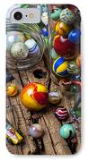 Toys And Marbles IPhone Case by Garry Gay