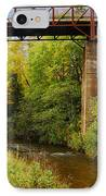 Train Trestle IPhone Case by Michael Peychich