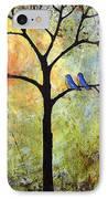 Tree Painting Art - Sunshine IPhone Case by Blenda Studio