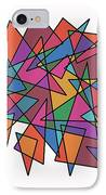 Triangles In Motion IPhone Case by ME Kozdron