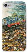 Trout Art Fish Art Brook Trout Suspended Artwork Giclee Fine Art Print IPhone Case