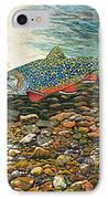 Trout Art Fish Art Brook Trout Suspended Artwork Giclee Fine Art Print IPhone Case
